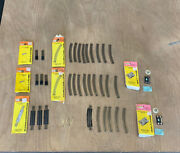 Atlas N Scale Track Lot Switches, Bumper, Straight And Curve Track 34 Pcs B1