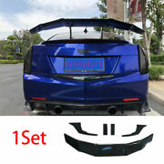For Cadillac Ats 2013-2020 Carbon Fiber Bgt Style Rear Boot Spoiler Wing Flap 5x