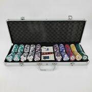 Lucky Chips 500 Las Vegas 14g Clay Poker Chips Set With Aluminum Case