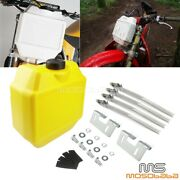 1.3 Gallon Front Fork Auxiliary Fuel Tank For Suzuki Dr125 Rm80 Rmz250 Motocross