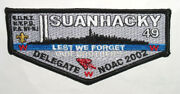 Oa 49 Suanhacky 9-11 Tribute 2002 Noac Delegate Flap - Lest We Not Forget