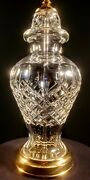 Waterford Lismore Fine Hand Cut Crystal Table Lamp - Made In Ireland - Mint
