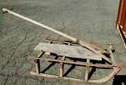 Antique Rustic Wooden Sled From New England With Original Handle Primitive Snow
