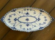Royal Copenhagen Blue Fluted Full Lace Serving Dish 1/1115 - Unused Condition