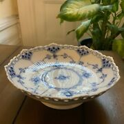 Royal Copenhagen Blue Fluted Full Lace Low Footed Dish 1023 - 1962 W Micro Flaws