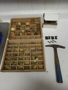 Small Brass Letters Numbers Symbols Master Engraving Plates Incomplete Lot