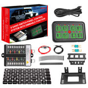 8 Gang Switch Panel Universal Circuit Control Relay System Box On-off Led Car