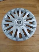 15 Custom Hubcaps Wheelcovers Fits Fiat 500 4 Brand New With New Black Logo's