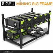 6 Gpu Aluminum Stackable Open Air Mining Computer Frame Rig Ethereum Veddha