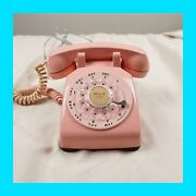 Pink Rotary Desk Phone - Vintage 1960 Bell System By Western Electric 500