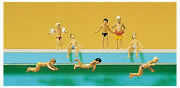 N 1160 Scale Preiser 79091 Children At The Swimming Pool Figures