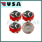 For Mercedes Benz A B C E Class 1x New Alloy Red Amg Wheel Centre Caps Hub 75mm