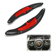 Carbon Steering Wheel Paddle Shifter Extension For Porsche Cayenne Macan 911