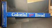 Vtg Advertising Colonial Bread Screen Door Push Pull General Store Country Sign