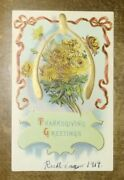 Vintage 1900's Holiday Thanksgiving 1914 Extremely Rare Post Card