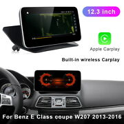 12.3 Inch Android Car Gps Auto Radio Navi For Benz E Class Coupe W207 2013-16