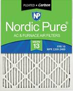 Nordic Pure 14x20x1 Merv 13 Pleated Plus Carbon Ac Furnace Air Filters 12 Pack