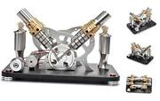 Hot Air Stirling Engine Motor Educational Electricity 4 Cylinders Generator