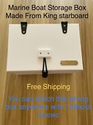 Marine Boat Rv White King Starboard Storage Box With Compartments12x 8 X 6