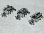 Lot Of 3 Chrome Street Rod Master Cylinders Universal Gm 3/8 For Parts Repair