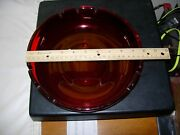 Very Cool Mid-century Modern Ruby Red Large 10 Ashtray