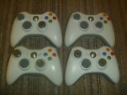 Official Oem Microsoft Xbox 360 Wireless Controller White Set Lot Of 4 +