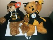 New Pittsburgh Steelers Plush Bears Lot Of 2 With Tags