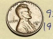 1931-d Lincoln Wheat One Cent Penny Coin 9324k