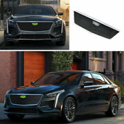 For Cadillac Ct6 2019-2020 Abs Black Sport-v Front Grille Grill Cover Trim 1pcs