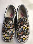 X Peanuts Classic Slip On Skate Shoes Snoopy Charlie Brown Kids 13