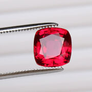 Natural Mozambique Red Ruby 7.80 Ct Perfect Square Cut Loose Certified Gemstone