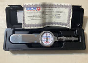 Seekonk Tsq-75 Inch Lbs Dial Torque Wrench Gauge New Old Stock Snap Shut Case On