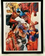 Superman Family Supergirl By Clay Mann Framed 12x16 Art Print Poster Dc Comics