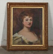 Antique Early 20th Century Portrait Of A Young Lady Portraitist Ethel Mortlock