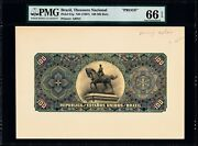 Brazil Thesouro Nacional 100 Mil Reis Pmg 66 Epq 1897 P-61p Front And Back Proofs