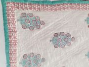 Tree Block Printed Jaipuri Razai Handmade Pure Voile Queen Size Colorful Quilts