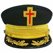 Knights Templar Dress / Military Fatigue Caps With Vinework And Gold Braid