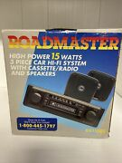 Roadmaster Rs1100s 3-piece Car Stereo System Nos Vintage Car
