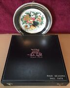 1972 Veneto Flair Four Seasons 1684/2000 Silver Plated Fall Collection Plate