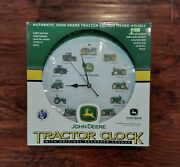 John Deere Tractor Clock With Authentic Tractor Sounds New In The Box