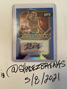 Max Holloway 2021 Ufc Prizm Signatures Blue 4/35 Auto Refractor Make Me An Offer