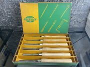 Greenlee 470-6 Matched Set Of 6 Wood Turning Tools Chisels Lathe