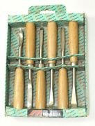 6 Pc. Madera Wood Chisel Carving Set / Nos / Duck Decoy / Hand Tools