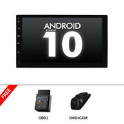 Obd+dvr+head Unit Double 2din 7ips Android 10 Car Radio In Dash Stereo Gps Navi