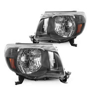For 05-11toyota Tacoma Headlight Housing From Torchbeam Black Amber Headlamps