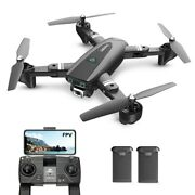 Holy Stone S167 Rc Drone With Camera 1080p Gps Foldable Rc Quadcopter 2 Battery