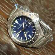 Super Rare Orient Star Gmt Blue Dial Self-winding Antique Menand039s Watch