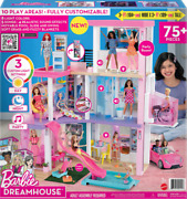 Barbie Dreamhouse Dollhouse - Pool Slide And Elevator 75 Pieces 2021 New Model