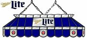 Miller Lite Beer Logo Billiards Stained Glass Big Mirror Pool Table Light Lamp
