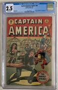1947 Captain America 63 Cgc 2.5 Ow Pages 1st Appearance Asbestos Lady